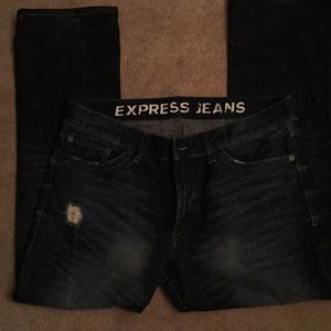 EXPRESS Jeans 34 x 30 Slim, Boot cut, High rise.